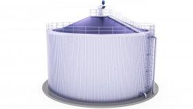 Stainless Steel Biogas Plant 3D Model 5