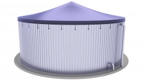 Biogas Storage Tank 3D Model 7