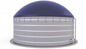 Agricultural Biogas Plant 3D Model 8