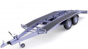 Open Car Hauler 3D Model 23