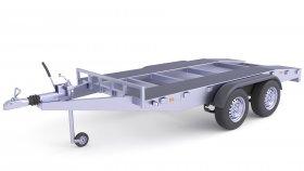 Heavy Duty Utility Cart Cargo Trailer 3D Model 26
