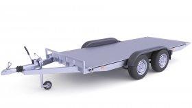 Heavy Duty Cargo Trailer 3D Model 27
