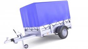 Cover Utility Cargo Trailer 3D Model 29