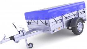 Covered Cargo Trailer 3D Model 30