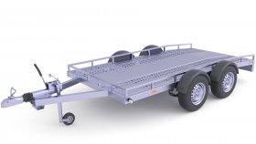 Heavy Duty Utility Cargo Trailer 3D Model 32