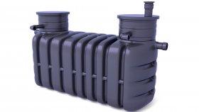 Domestic Sewage Treatment Plants Septic Tank 3D Model 2