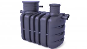 Septic Tank Domestic Sewage Treatment Plants 3D Model 3