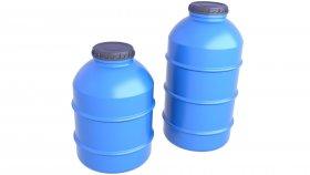 Water Storage Tank 3D Model 3