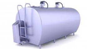 Stainless Steel Milk Tank 3D Model 3