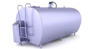 Milk Cooler Tank 3D Model 4