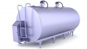 Raw Milk Tank 3D Model 5