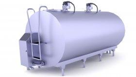 Milk Tank Low Poly Mods 3D Model 5