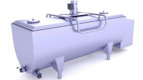Stainless Steel Milk Cooling Tank 3D Model 10