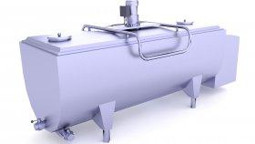 Milk Tank Low Poly 3D Model 10