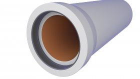 Underground Precast Concrete Sewage Pipe 3D Model 22