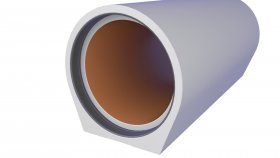 Sanitary Sewerage System Concrete Pipe 3D Model 24
