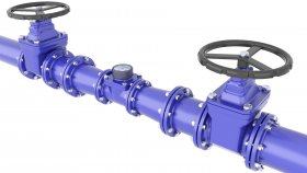 Water Pipe Water Meter Valve 3D Model 25