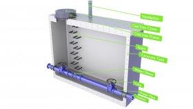 Sewage Concrete Water Meter Well Diagram Inside 3D Model 5