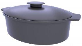 Cooker Pot Cast Iron Heat-Resistant Vessel 3D Model 1