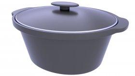 Cast Iron Cooker Pot 3D Model 3
