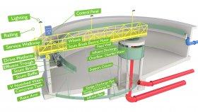 Sewage Treatment Plant Inside Diagram 3D Model 1