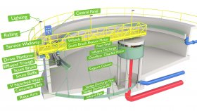 Wastewater Treatment Plant Inside Diagram Low 3D Model 1