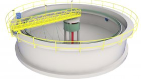 Waste Water Treatment Plant Low Poly 3D Model 1