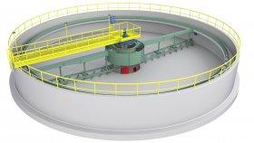 Circular Wastewater Treatment Plant 3D Model 2