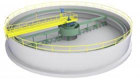 Circular Treatment Plant Low Poly 3D Model 2