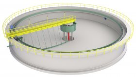 Wastewater Treatment Plant 3D Model 3