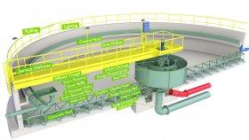 Concrete Wastewater Treatment Plant Inside Diagram 3D Model 4