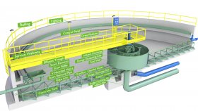 Diagram Wastewater Treatment Plant Low 3D Model 4