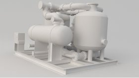 Refinery Tank Game Mods Low Poly 3D 3