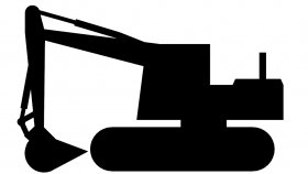 Tracked Excavator 3D Model