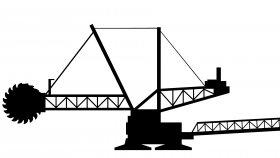 Bucket Wheel Excavator 3D Model
