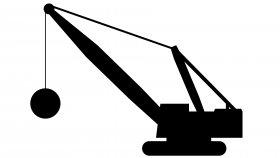 Wrecking Ball Crane 3D Model