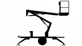 Telescopic Boom Lift 3D Model