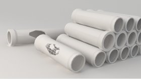 Lowpoly Concrete pipes 3d