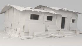 Metal Shed Slum Game Mods 3D Model 2