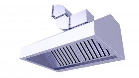 Commercial Kitchen Chimney 3D Model 15