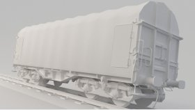 Lowpoly Train Container Shimmns UV 3d (7)