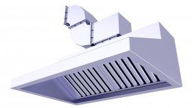 Restaurant Commercial Kitchen Chimney 3D Model 21