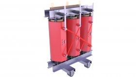 Cast Resin Core Transformer Low 3D Model 67