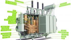 Power Distribution Transformer Low Diagram Schema 3D Model 46