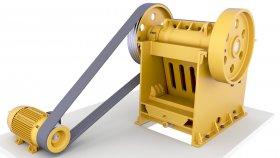 Stone Rock Hammer Mill 3D Model 1