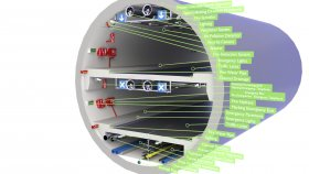 Car Tunnel 3D Model Low 13