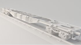 Lowpoly Train Flat car & Platform Sgnss 3d (18)