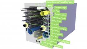 Urban Underground Utility Tunnel 3D Model 29