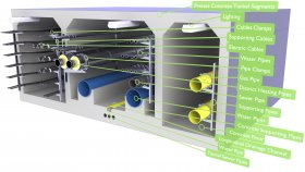Underground Utility Tunnel Network Pipes Cables 3D Model 30