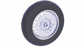 Rear Wheel Motorcycle Tire 3D Model 37